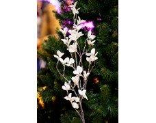 Ветка с белыми листьями 100см