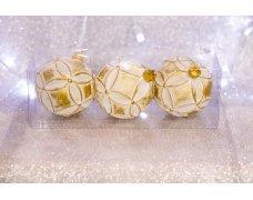 Набор шаров «Золотая сказка» 8см 3шт.(96pcs)SX-2101