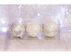 Набор шаров «Серебряная волна» 8см 3шт.(96pcs)SX-2102