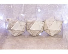 Набор шаров «Многоугольник» 8см 3шт.(96pcs)SX-2103