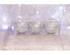 Набор шаров «Серебряный сироп» 8см 3шт.(96pcs)SX-2105