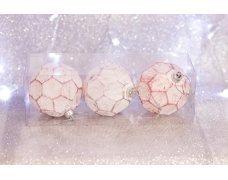 Набор шаров «розовый мяч» 8см 3шт.(96pcs)SX-2108