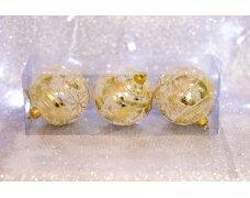 Набор шаров «Золотой цветок» 8см 3шт.(96pcs)SX-2113