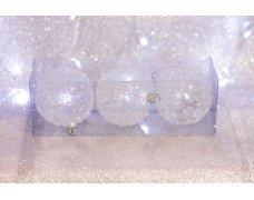 Набор шаров «Лед с пайетками» 8см 3шт.(96pcs)SX-2118
