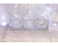 Набор шаров «Лед со звездочками» 8см 3шт.(96pcs)SX-2119