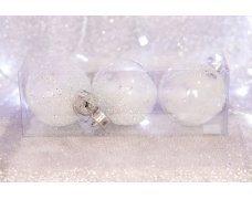Набор шаров «Прозрачное перо» 8см 3шт.(96pcs)SX-2125
