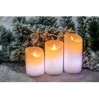 Набор свечей 3шт с воском на батарейках(пульт)