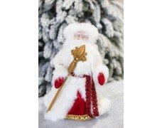 Дед Мороз бело-красный музыка  50см