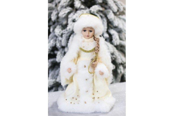 Снегурочка музыкальная бел 40см