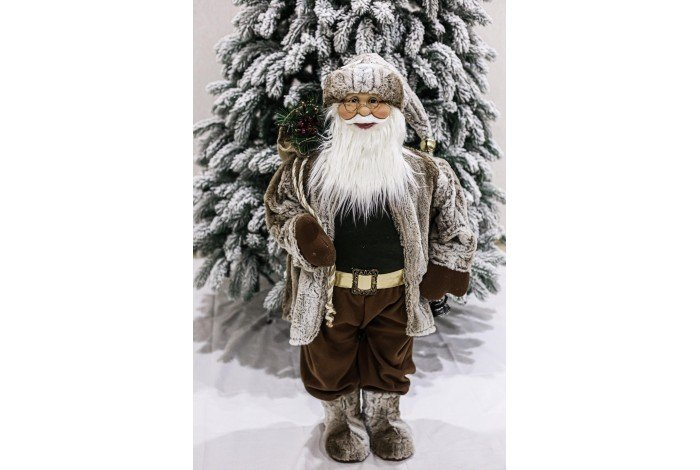 Дед Мороз коричневый 90см