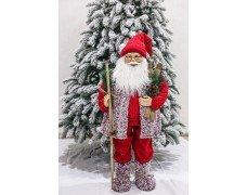 Дед Мороз красно-бордовый 90см