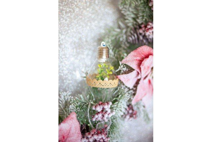 Лампочка с веточкой светящ