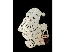 Новогоднее украшение Дед Мороз бел 2шт 47см