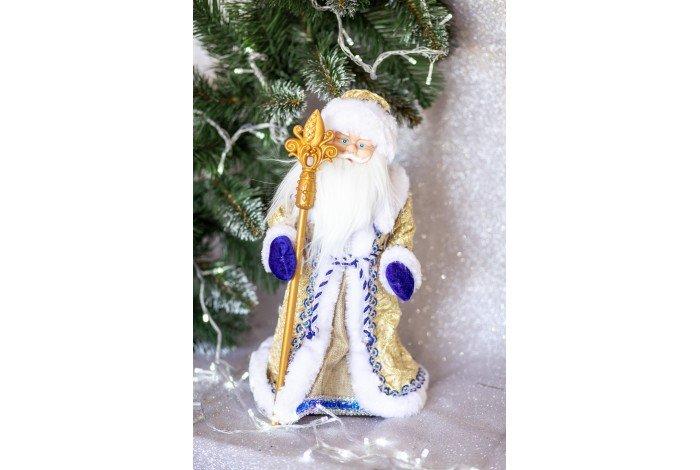 Дед Мороз золотой музыкальный 40см