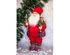 Дед Мороз красно-бордовый 70см