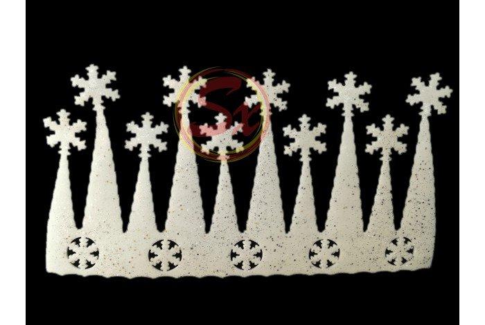 Новогоднее украшение Сосульки 65*35 2 шт