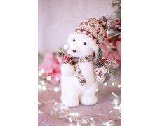 """Фигура """"Белый медведь с елкой"""" мал."""