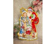"""Плакат '""""Дед Мороз и Снегурочка"""" 45см"""