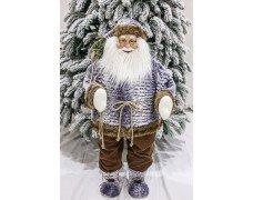 Дед Мороз серый 90см