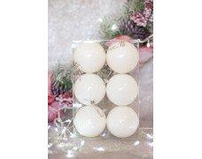 Набор шаров 8см 6шт цвет бел.(для рисования)