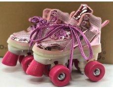 Четырехколесные ролики, размер 30 Цвет: розовый