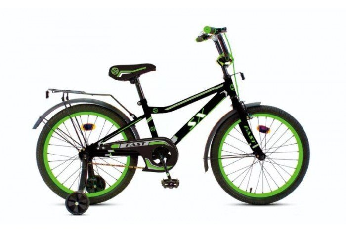 """Велосипед Fast  12"""" цвет: черно-зеленый, , шт"""