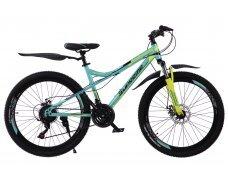 """Велосипед скоростной 400MD 26"""" зеленый, 21 скор.(Shimano), сталь.рама, тормаза мех.дисковые"""