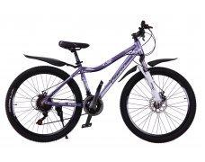 """Велосипед скоростной """"Canvas"""" 26"""" фиолетовый, 21 скор.(Shimano), алюм.рама, тормаза мех.дисковые"""