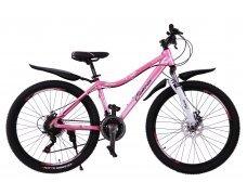"""Велосипед скоростной """"Canvas"""" 26"""" розовый, 21 скор.(Shimano), алюм.рама, тормаза мех.дисковые"""