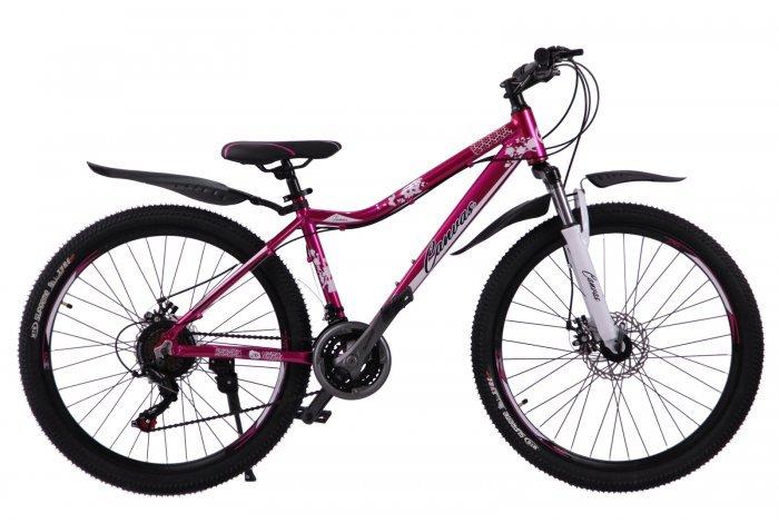 """Велосипед скоростной """"Canvas"""" 26"""" бордовый, 21 скор.(Shimano), алюм.рама, тормаза мех.дисковые"""