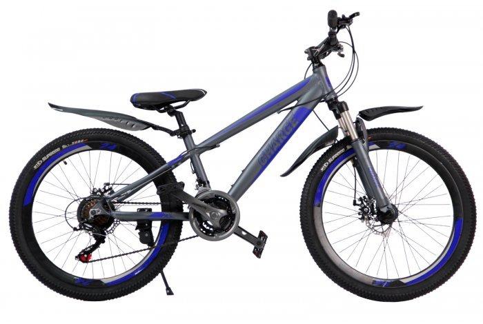"""Велосипед скоростной 24 """"Charge"""" серый, 21 скор.(Shimano), алюм.рама, тормаза мех.дисковые"""