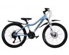 """Велосипед скоростной 24 """"Tenderness"""" голубой"""