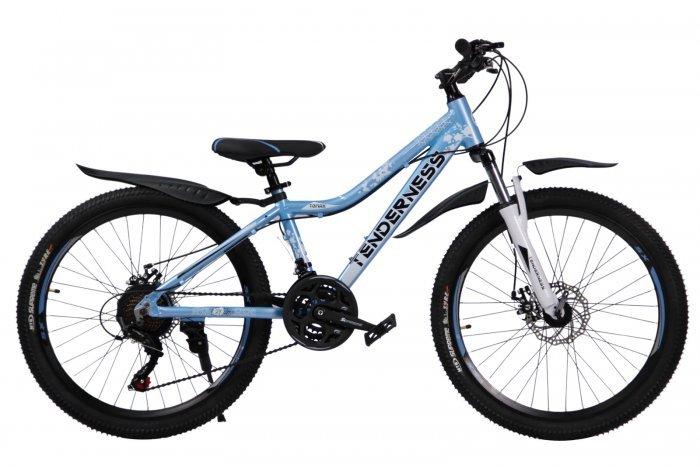 """Велосипед скоростной 24 """"Tenderness"""" голубой, 21 скор.(Shimano), алюм.рама, тормаза мех.дисковые"""