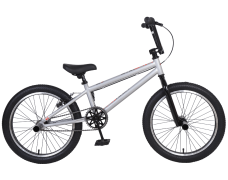 "Велосипед TechTeam Step One 20"" BMX, серый,рама сталь,4 пеги"