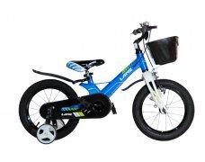 "Велосипед LANQ 14"" алюм. рама, руч. тормоза (синий)"