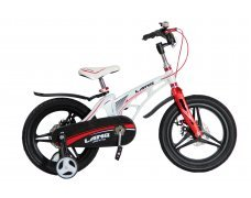"Велосипед LANQ 16"" алюм. рама, руч. тормоза, литые обода  (белый)"