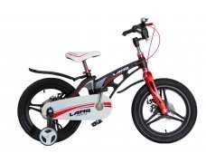 """Велосипед LANQ 16"""" алюм. рама, руч. тормоза, литые обода (черный)"""