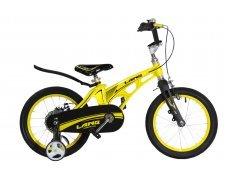 """Велосипед LANQ 18"""" алюм. рама, руч. тормоза (Желт)"""