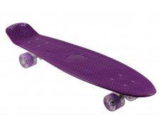 Пенни борд со светящимися колесами фиолетовый 74.5см однотонный