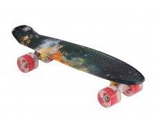 Пенни борд со светящимися колесами c рисунком космос 55см Принт