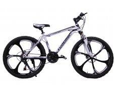 """Велосипед скоростной """"FUMEIRUI"""" 26 на литых дисках, 24 скорости, бело-черный"""