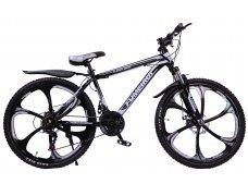 """Велосипед скоростной """"FUMEIRUI"""" 26 на литых дисках, 24 скорости, черно-белый"""