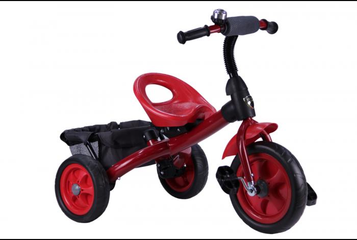 Детский трехколесный велосипед красный