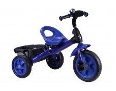 Детский трехколесный велосипед синий
