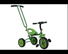 Детский трехколесный велосипед с родительской ручкой зеленый