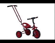 Детский трехколесный велосипед с родительской ручкой красный