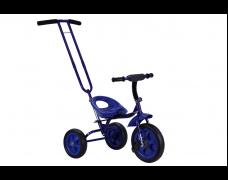 Детский трехколесный велосипед с родительской ручкой синий