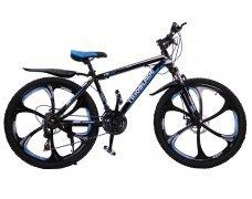 """Велосипед скоростной """"Trioblade TR-560"""" 26 на литых дисках, 24 скорости, черно-синий"""