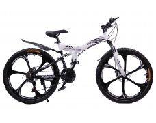 """Велосипед скоростной """"Troblade 5.0 GX"""" 26 на литых дисках складной, 24 скорости, бело-черный"""
