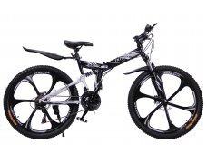 """Велосипед скоростной """"Troblade 5.0 GX"""" 26 на литых дисках складной, 24 скорости, черно-белый"""